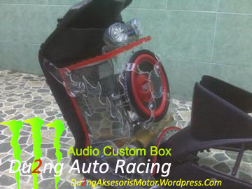 Audio Box Custom Akrilik Motor Matic