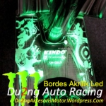 Bordes Akrilik Green Led