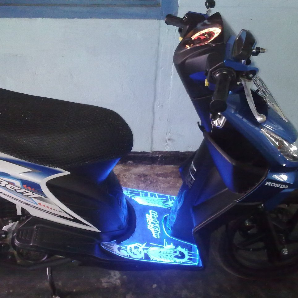 bordes akrilik led honda beat | du2ng aksesoris motor