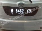 jasa pembuatan plat acrylic mobil yaris - 0856.4355.2499